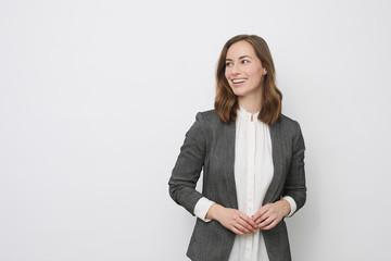 Fototapeta Portrait of beautyful and confident business woman obraz