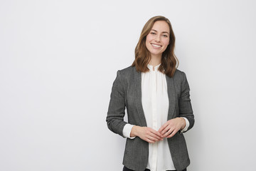 Portrait of beautyful and confident business woman