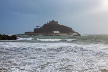 Storm at St Michaels Mount Marazion Cornwall