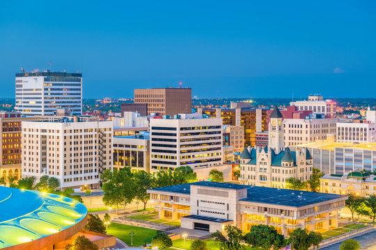 Wichita, Kansas, USA Downtown Skyline