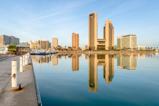 Corpus Christi, Texas, USA skyline on the bay
