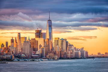 Tuinposter New York New York City Dawn
