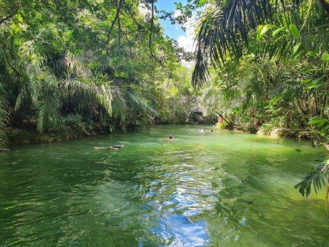 River in municipal bathing Bonito MS Brazil