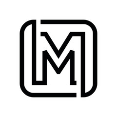 MM M letter logo design vector