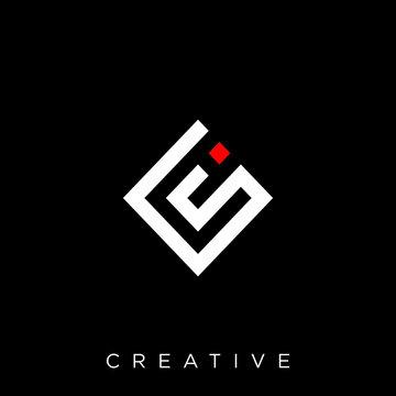 cs logo design vector