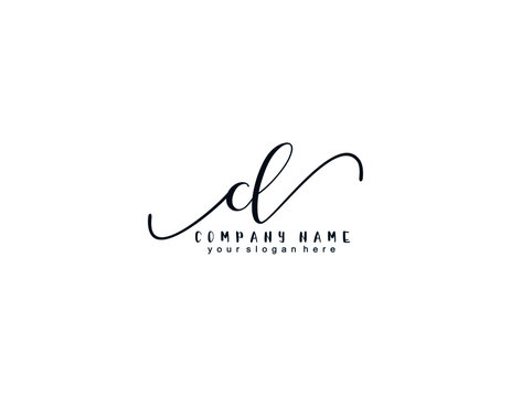 Letter CL handwrititing logo with a beautiful template