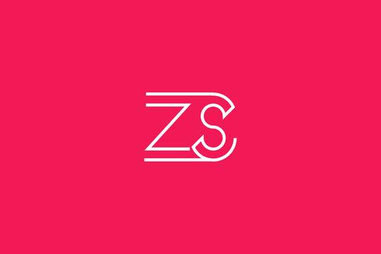 Initial based clean and minimal Logo. SZ ZS S Z letter creative fonts monogram icon symbol. Universal elegant luxury alphabet vector design