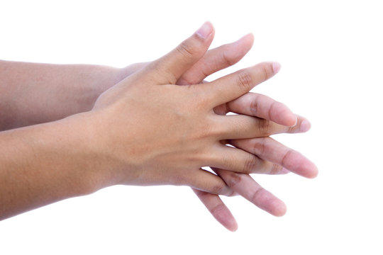 wash your hands Rub palm again with fingers interlaced