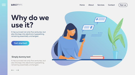 People using online apps set. Professionals using computers and cellphones for work or chat. Flat vector illustrations. Internet communication concept for banner, website design or landing web page