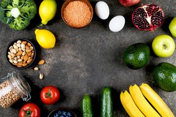 Healthy vegan food diet concept