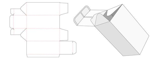 Reverse tuck end packaging die cut template