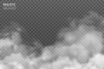 Realistic Clouds Smog Transparent  Fotobehang