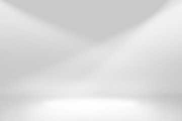 Abstract studio background gradient silver gray wall
