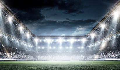 Full night football arena in lights Wall mural