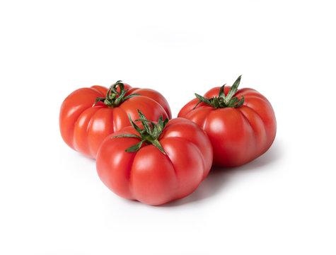 Beefsteak tomato, isolated on white background