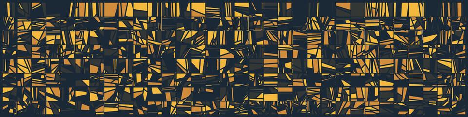 Abstract Random Color Poligones Generative Art background illustration