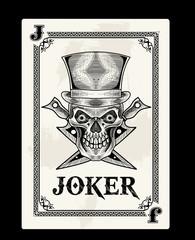 joker card vector illustration art