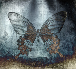 Ingelijste posters Vlinders in Grunge grunge butterfly background