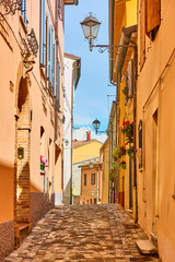 Wall Mural - Street in Santarcangelo di Romagna town
