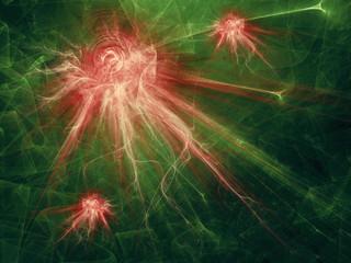 corona virus illustration. abstract fractal graphic background