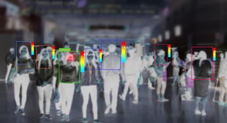 Obraz AI thermal scanning concept. - fototapety do salonu