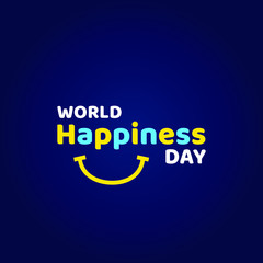 World Happiness Day Vector Design