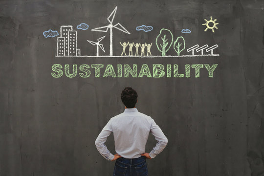 sustainability concept, sustainable development in business