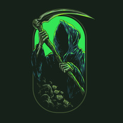 Grim Reaper Illustration