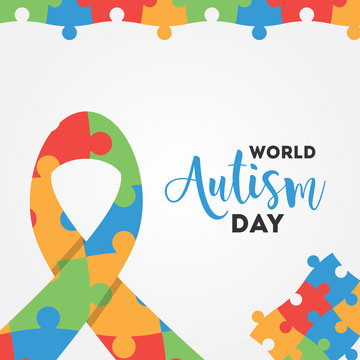 World Autism Day Vector Design For Banner or Background