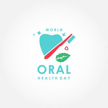 World Oral Heath Day Vector Design For Banner or Background