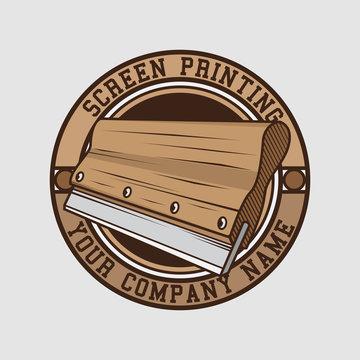 screen printing logo design