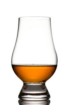 Glencairn glass with singe malt whisky