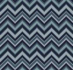 Knitted seamless pattern missoni, chevron style