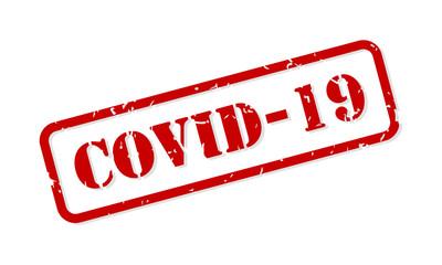 COVID-19 Coronavirus Rubber Stamp Vector