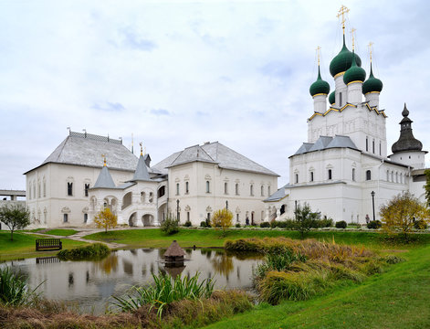 Church of St. Gregory Theologian and Red Chamber in Rostov Kremlin, Rostov, one of oldest town and tourist center of Golden Ring, Yaroslavl  region, Russia