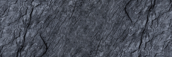 Wall Mural - horizontal black stone texture for pattern and background