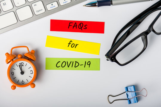 FAQ for Covid-19 - Wuhan Novel Coronavirus pneumonia. What you need to know. Quarantine and pandemic concept