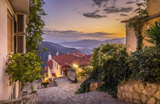 Beautiful street in Delphi