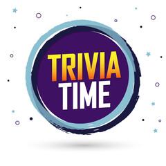 Trivia Time, banner design template, vector illustration