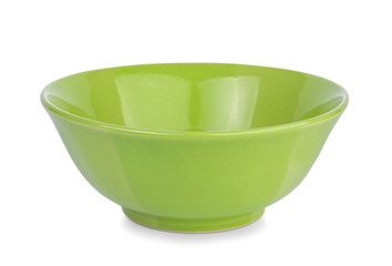 green empty bowl on a white background