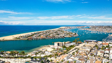 Aerial Photography of Newport Beach, California