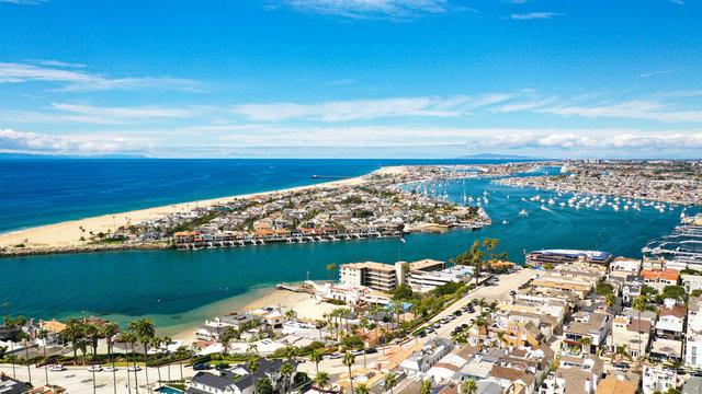 Aerial Photography of Newport Beach, California