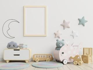 Lamas personalizadas con tu foto Mock up poster frame in children room,kids room,nursery mockup.