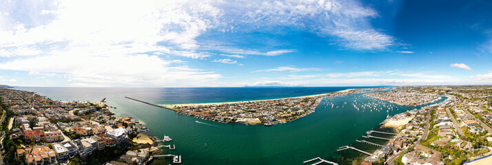 Aerial Panoramic Photography of Newport Beach, California