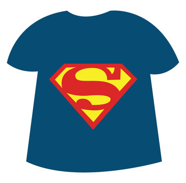 Superhero shirt, illustration, vector on white background.