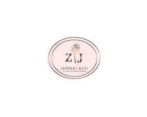 Obraz Letter MR handwrititing logo with a beautiful template - fototapety do salonu