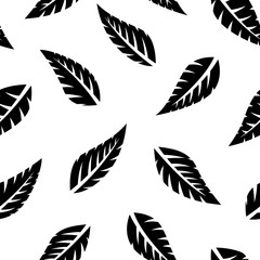 Foto op Canvas Boho Stijl Simple falling leaves leaf silhouette seamless pattern. Vector illustration for fashion, scrapbook, surface design