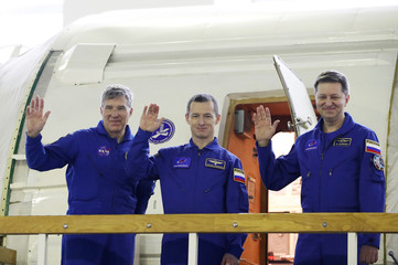 Back-up crew members of the International Space Station (ISS) attend the final qualification training for the upcoming space mission in Star City