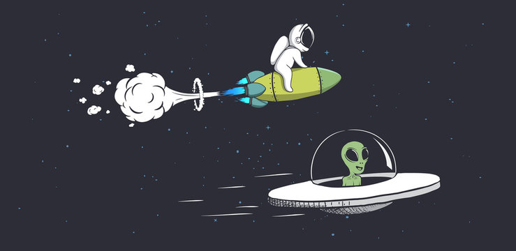 competitions alien and astronaut