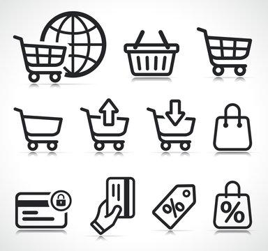 Vector ecommerce icons symbol set